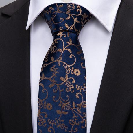 Hercule Handmade Tie // Navy + Gold