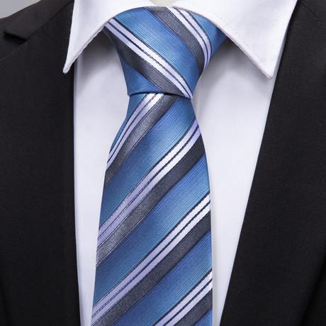 Quay Handmade Tie // Blue Stripe