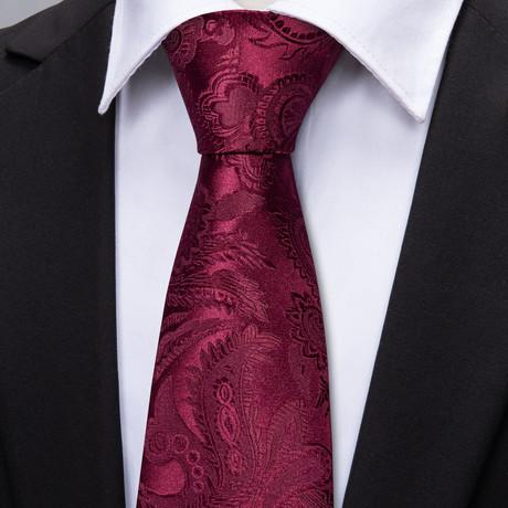 Lionello Handmade Tie // Maroon Paisley