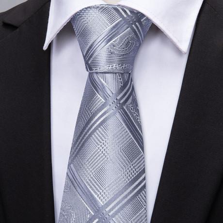 Fate Handmade Tie // Silver
