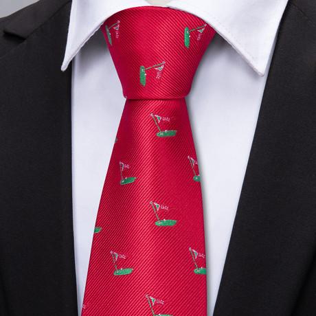 Duvall Handmade Tie // Red
