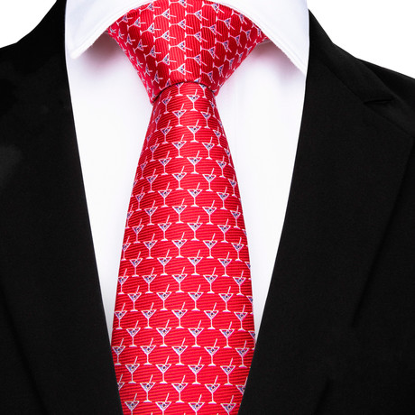Martini Handmade Tie // Red