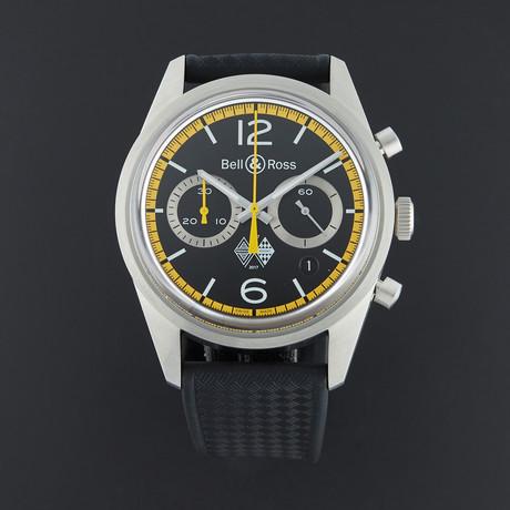 Bell & Ross Vintage Chronograph Renault Sport Automatic // BRV126-RS40-ST/SRB // Unworn
