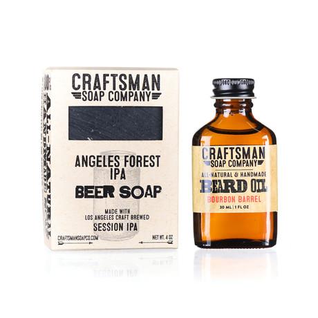 Bourbon Barrel Beard Kit // Beard Oil + Beer Soap
