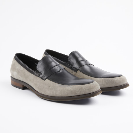 Premium Leather/Suede Dress Shoe // Grey/Black (US: 7)