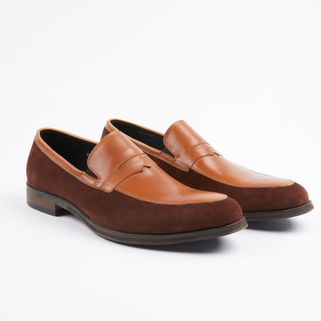 Premium Leather/Suede Dress Shoe // Brown/Black (US: 7)