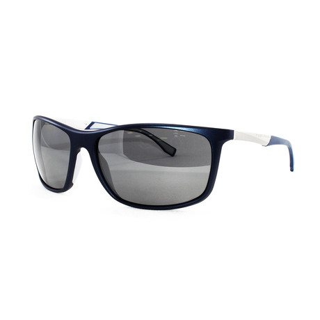 Hugo Boss // Men's Polarized 707PS Sunglasses // Blue + Matte Palladium
