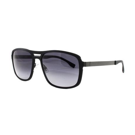 Hugo Boss // Men's 724S Sunglasses // Black + Dark Ruthenium