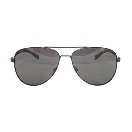 Men's 0761-S Polarized Sunglasses // Matte Brown