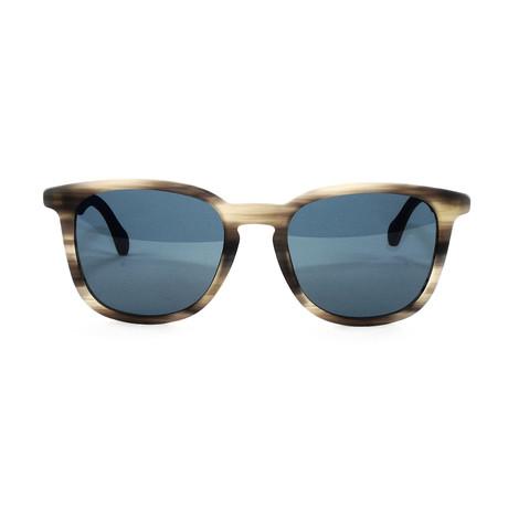 Men's 843S Sunglasses // Horn Brown + Blue Size