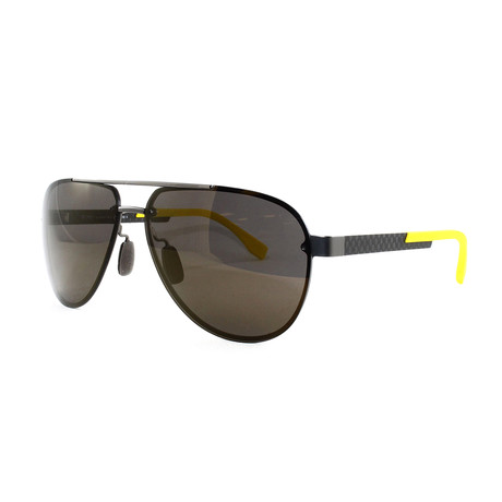 Hugo Boss // Men's 811FS Sunglasses // Dark Ruthenium + Carbon
