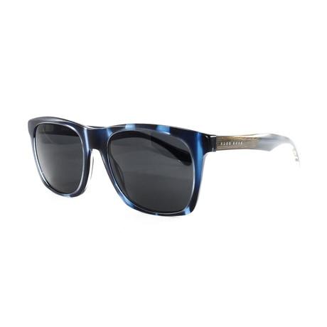 Hugo Boss // Men's 911S Sunglasses // Blue Melange