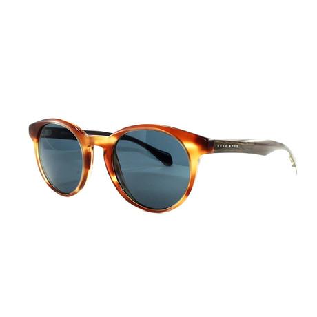 Hugo Boss // Men's 912S Sunglasses // Horn + Crystal Brown