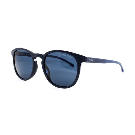 Hugo Boss // Men's Polarized 922S Sunglasses // Striped Blue
