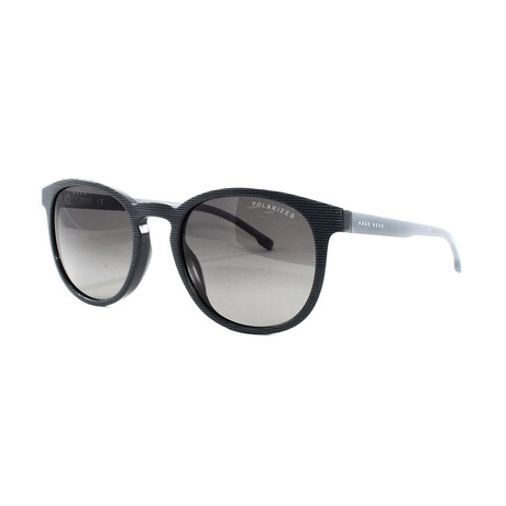 Hugo Boss // Men's Polarized 922S Sunglasses // Striped Gray