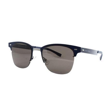 Hugo Boss // Men's 934NS Sunglasses // Matte Blue
