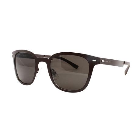 Hugo Boss // Men's 936S Sunglasses // Matte Brown