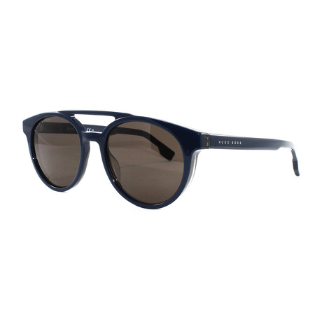 Hugo Boss // Men's 972S Sunglasses // Blue Khaki