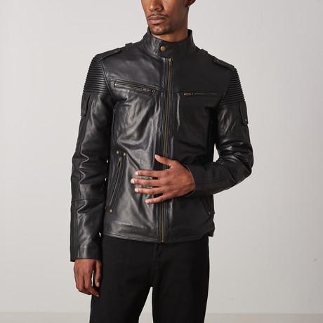 Ranger Leather Jacket // Black (XS)