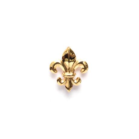 Fleur De Lis Lapel Pin // Yellow Gold Plating