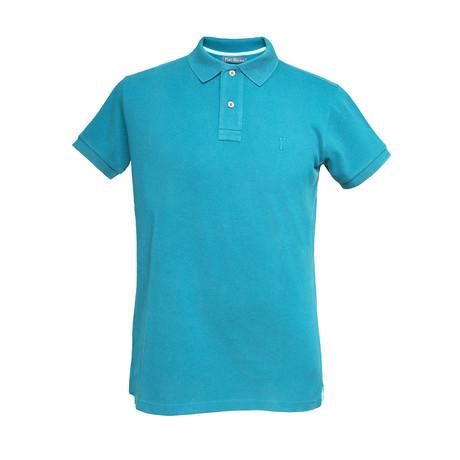 Basic Melange Polo Shirt // Mint (S)
