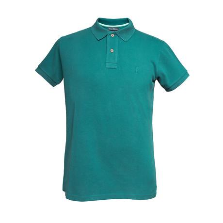 Basic Melange Polo Shirt // Green (S)