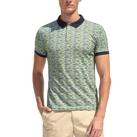 Smart-Fit Polo Shirt + Paisley Print // Green (S)