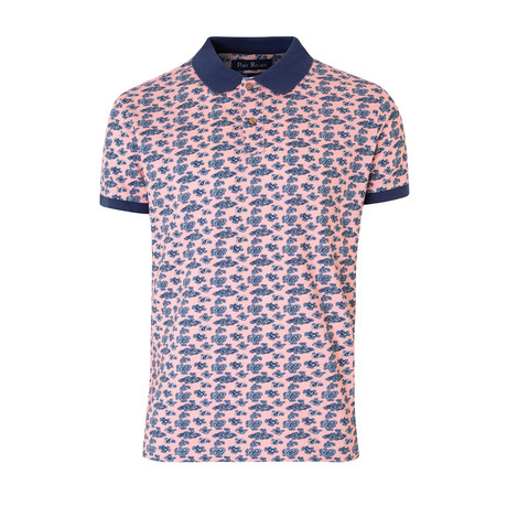 Smart-Fit Polo Shirt + Paisley Print // Pink (S)