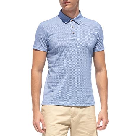 Urban Style Polo Shirt + Micro Print // Navy Blue (S)