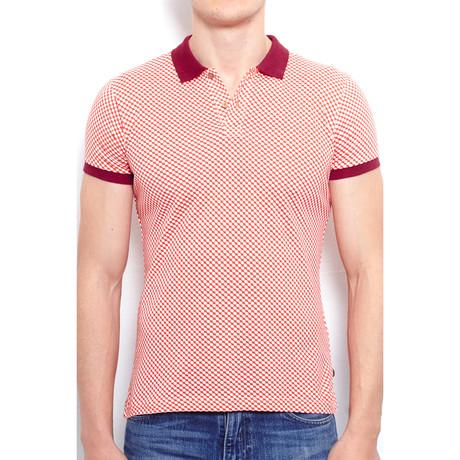 Polo Shirt + Geometric All Over Print // Orange (S)
