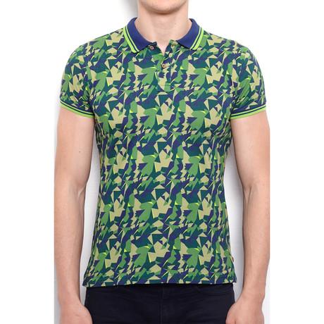 Polo Shirt + All Over Camouflage Print // Khaki (S)