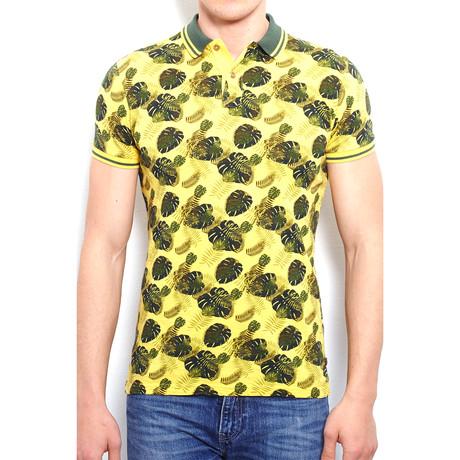 Piece-Dye Polo Shirt + Alloversafari Print // Yellow (S)
