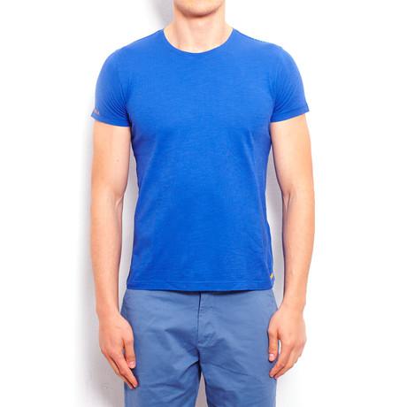 Piece-Dye T-Shirt + Handmade Embroidery // Parliament Blue (S)