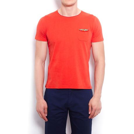 Basic T-Shirt + Pocket // Orange (S)