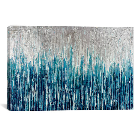 """Silver Showers (26""""W x 18""""H x 0.75""""D)"""