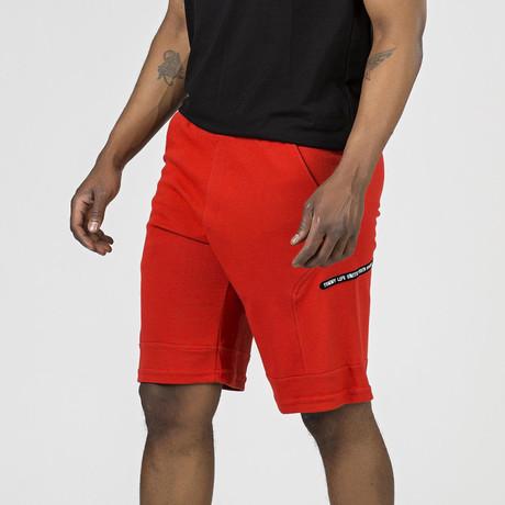 Side Logo Lounge Short // Fiesta Red (S)