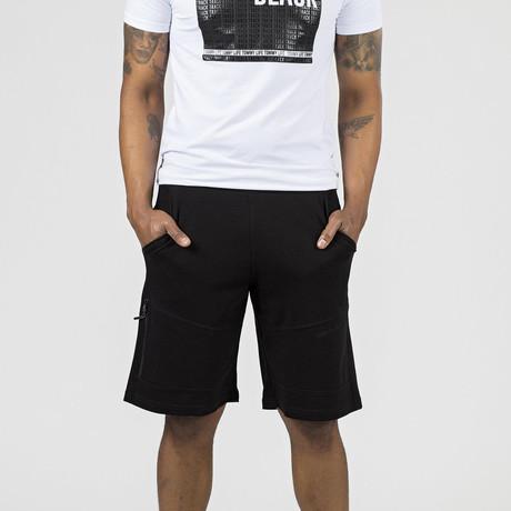 Zipper Pocket Lounge Short // Black (S)