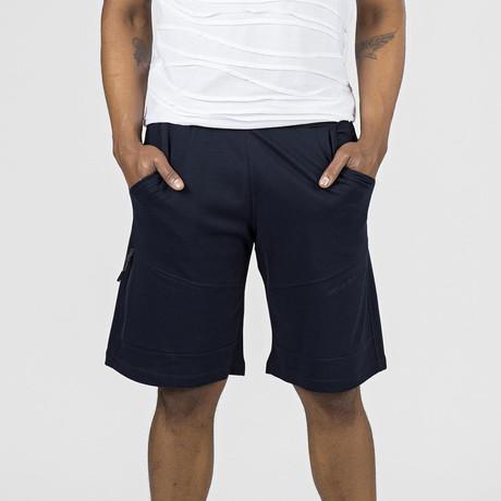 Zipper Pocket Lounge Short // Navy (S)