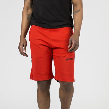 Zipper Pocket Lounge Short // Fiesta Red (S)