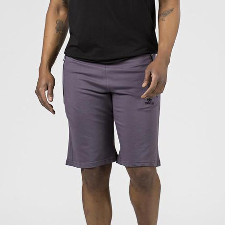 Side Zipper Pocket Lounge Short // Purple (S)
