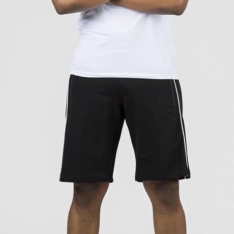 Side Stripe Lounge Short // Black (S)