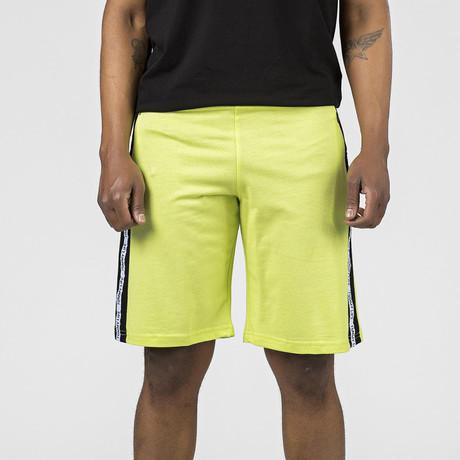 Side Logo Stripe Lounge Short // Yellow (S)