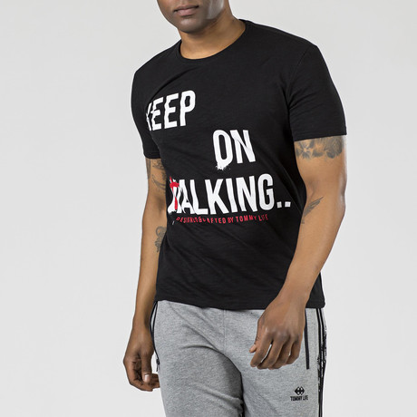 """Keep on Walking"" Graphic T-Shirt // Black (S)"