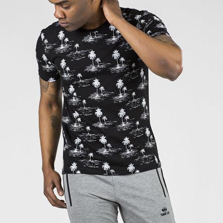 Palm Trees Graphic T-Shirt // Black (S)