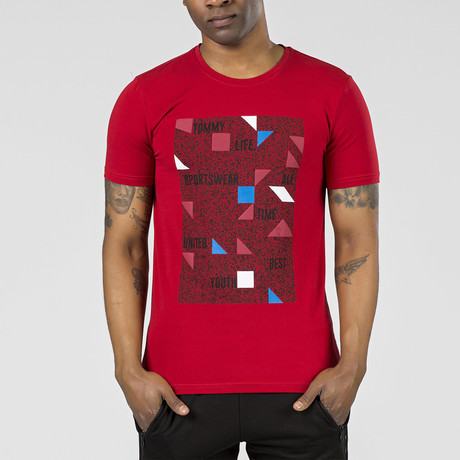 """""""Tommy Life"""" Graphic T-Shirt // Red (S)"""