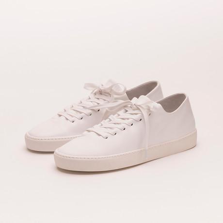 Atom Shoe // White Plain Leather (Euro: 40)