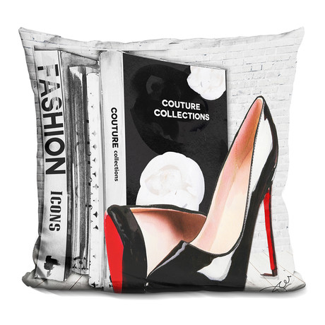 "Fashion Icons 2 Throw Pillow (16"" x 16"")"
