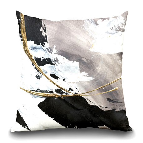 "Gilded Arcs I Throw Pillow (16"" x 16"")"