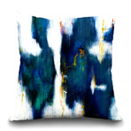 "Blue Texture I Throw Pillow (16"" x 16"")"