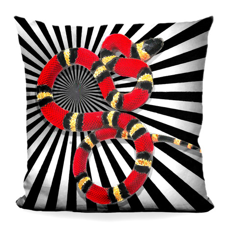"Snake I Throw Pillow (16"" x 16"")"